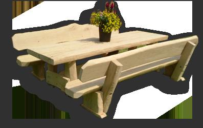 rustikale Holzmöbel in starker und schwacher Ausführung