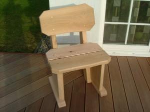 Stuhl rustikal aus Eiche
