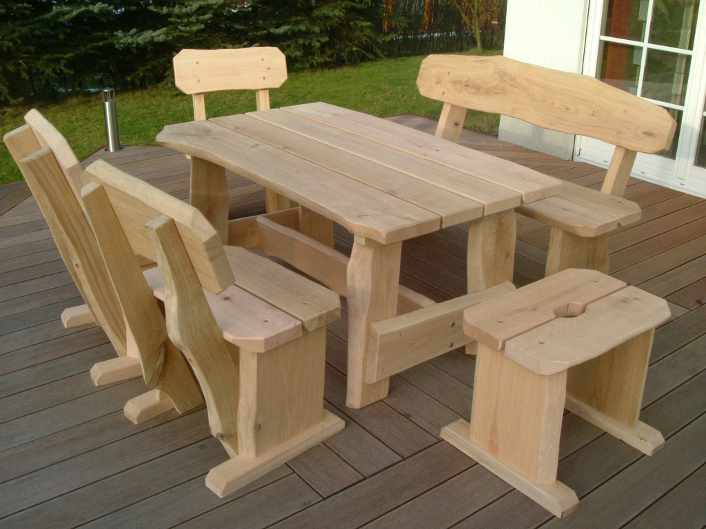 rustikale gartenm bel schwache ausf hrung die holzfabrik. Black Bedroom Furniture Sets. Home Design Ideas